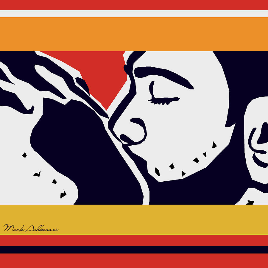 Kiss 2 Digital Art  - Kiss 2 Fine Art Print
