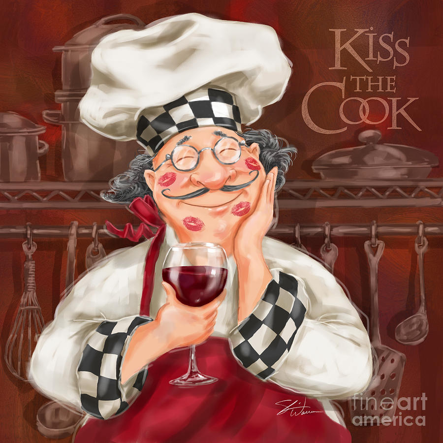 Kiss The Cook Mixed Media