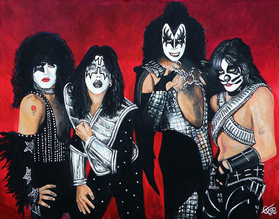 Kiss Painting - Kiss by Tom Carlton