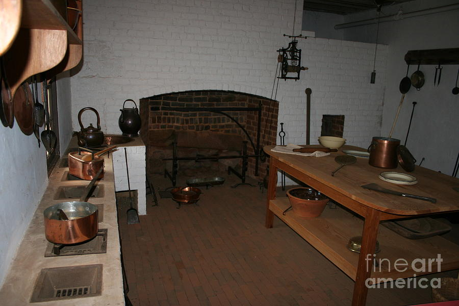 Kitchen At Monticello Photograph