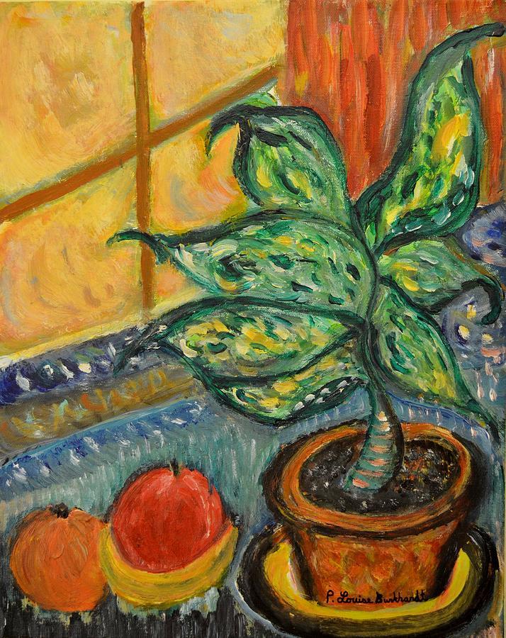 Plant Painting - Kitchen Company by Louise Burkhardt