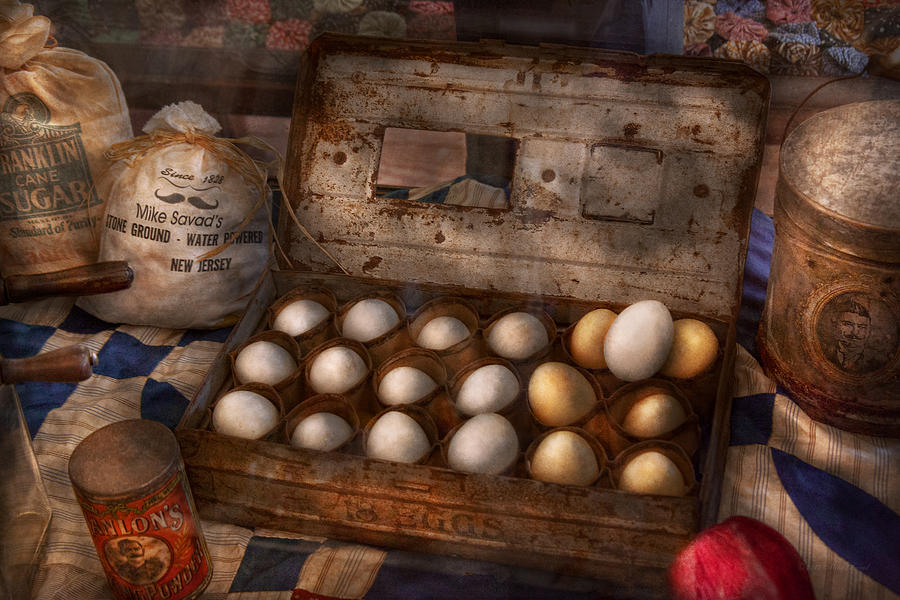 Savad Photograph - Kitchen - Food - Eggs - 18 Eggs  by Mike Savad