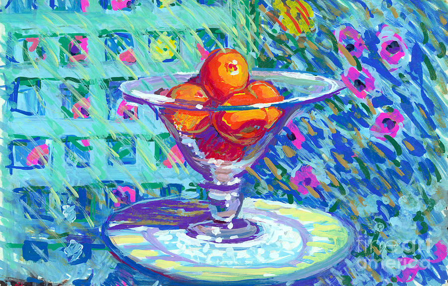 Kitchen Oranges Painting By Candace Lovely