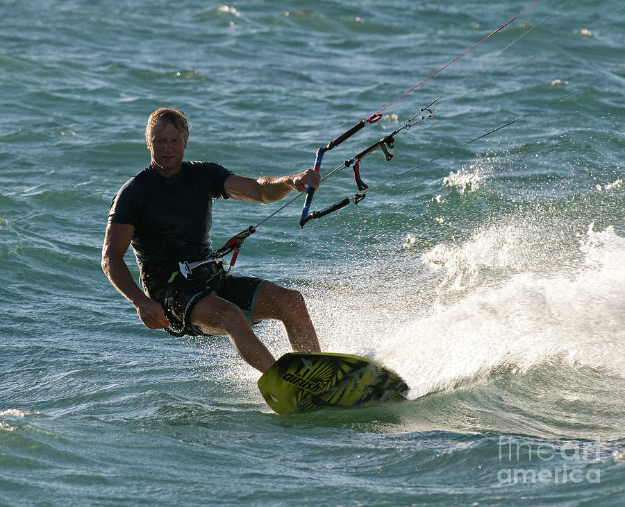 Australia Photograph - Kite Surfer 05 by Rick Piper Photography