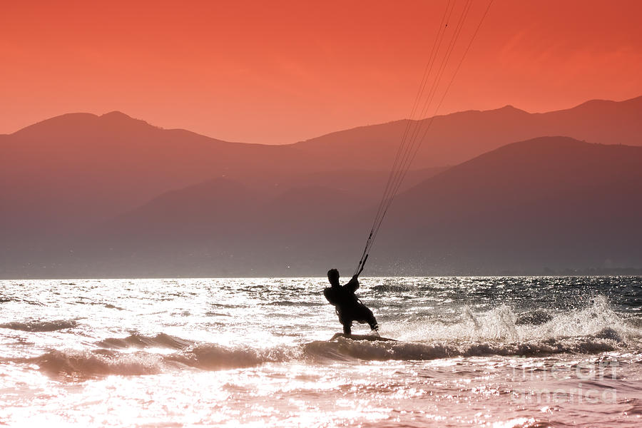 Kite Surfing Photograph  - Kite Surfing Fine Art Print