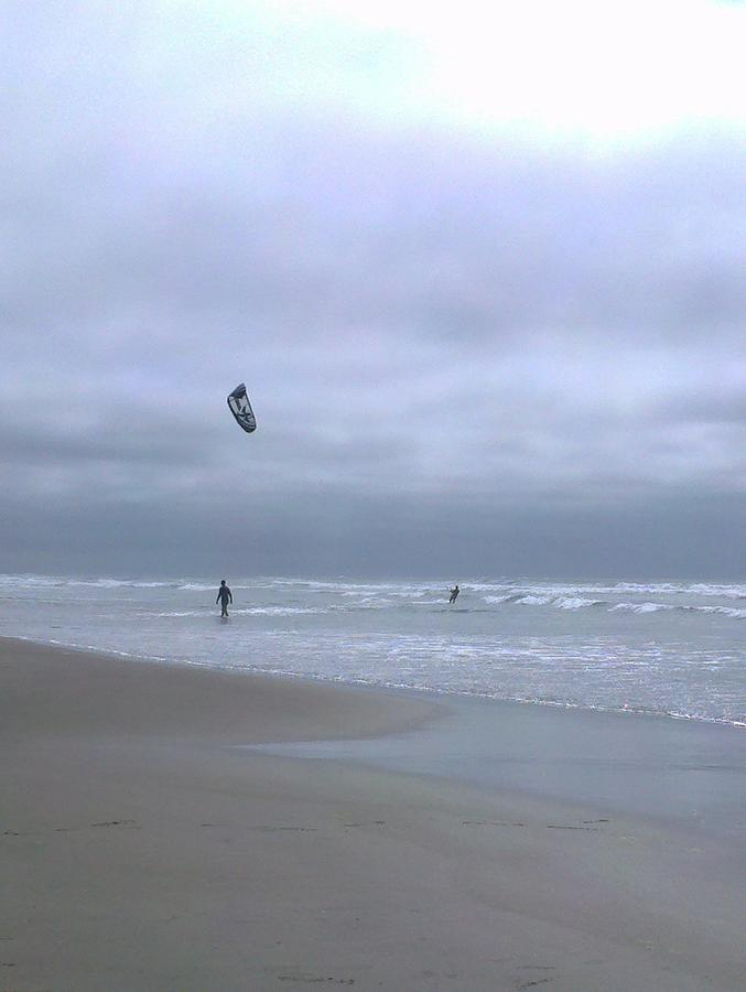 Kite Photograph - Kite Surfing by Heather L Wright