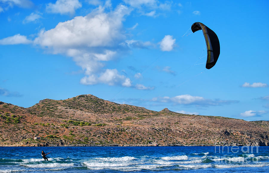 Kitesurfing Photograph - Kitesurfer 02 by Antony McAulay