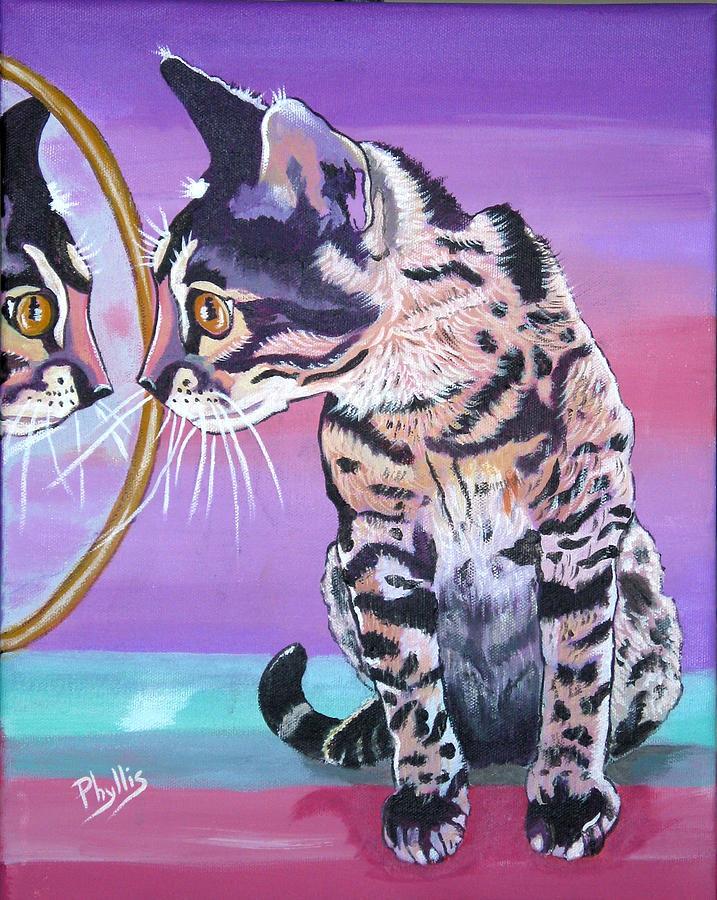 Bengal Cat Painting - Kitten Image by Phyllis Kaltenbach
