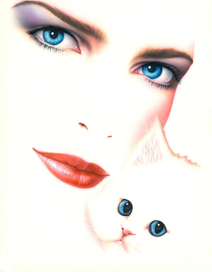Adult Photograph - Kitten Love by Andrew Farley