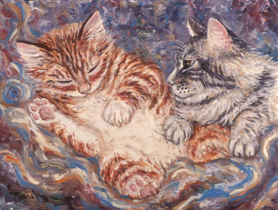 Kittens Sleeping Painting