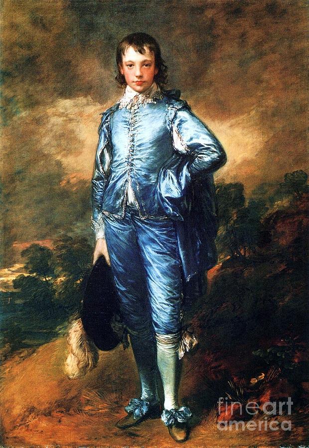 Knabe In Blau Painting