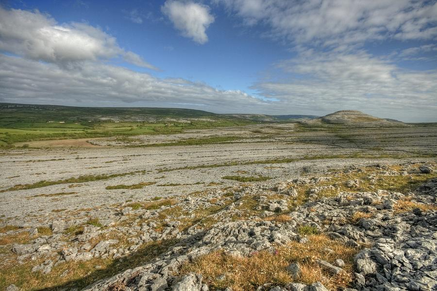 Barren Limestone Photograph - Knockanes Mountain by John Quinn