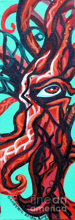 Knotted Tree 2 Painting