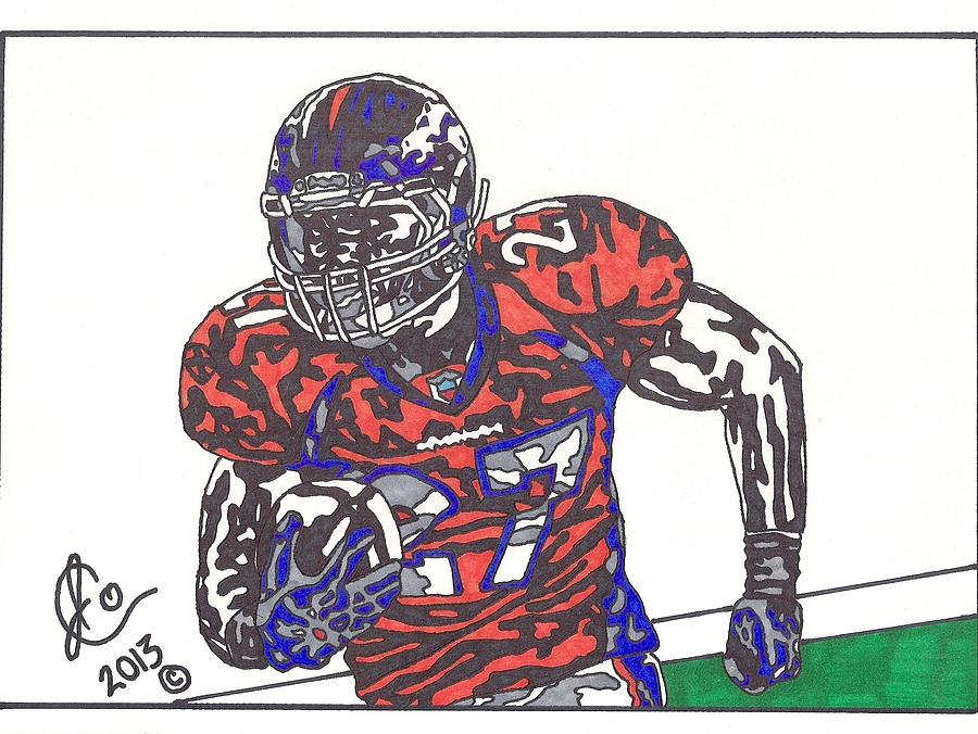 Knowshon Moreno 2 Drawing  - Knowshon Moreno 2 Fine Art Print