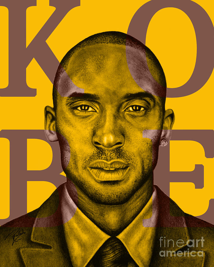 Kobe Bryant Lakers Gold Drawing