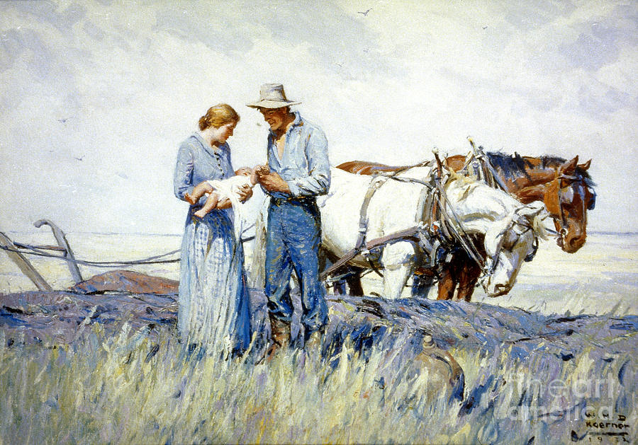 Koerner - The Homesteaders Painting  - Koerner - The Homesteaders Fine Art Print