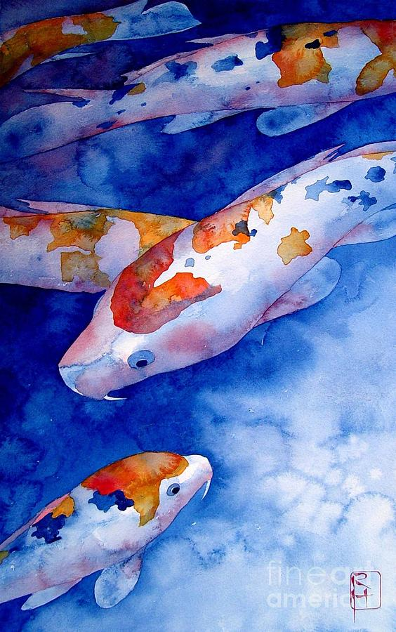 Watercolor Painting - Koi by Robert Hooper