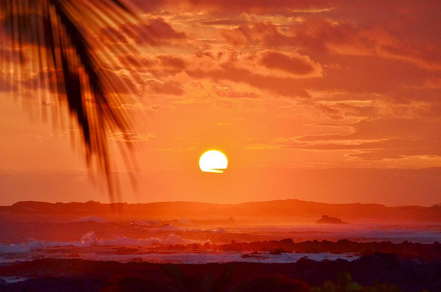 Kona Sunset Photograph  - Kona Sunset Fine Art Print