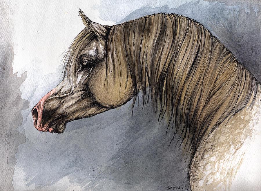 Horse Painting - Kordelas by Angel  Tarantella
