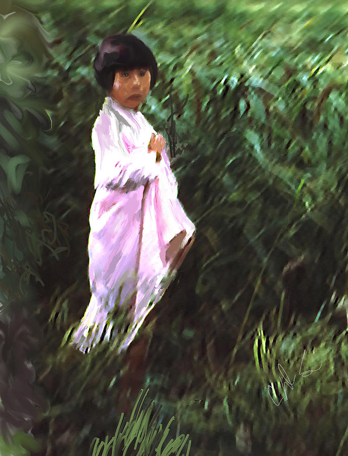 Korean Child Photograph  - Korean Child Fine Art Print