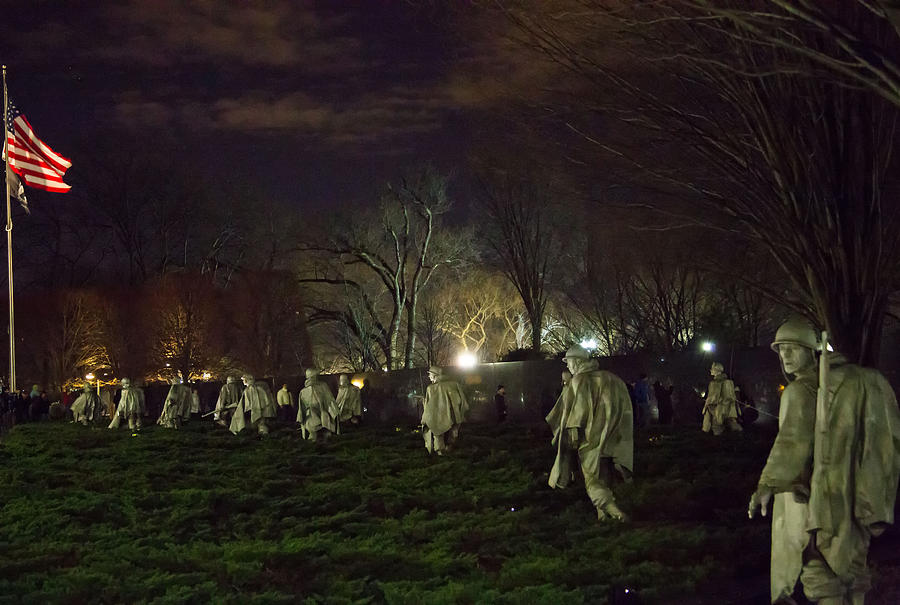 Korean War Memorial At Night Photograph By Natural Focal