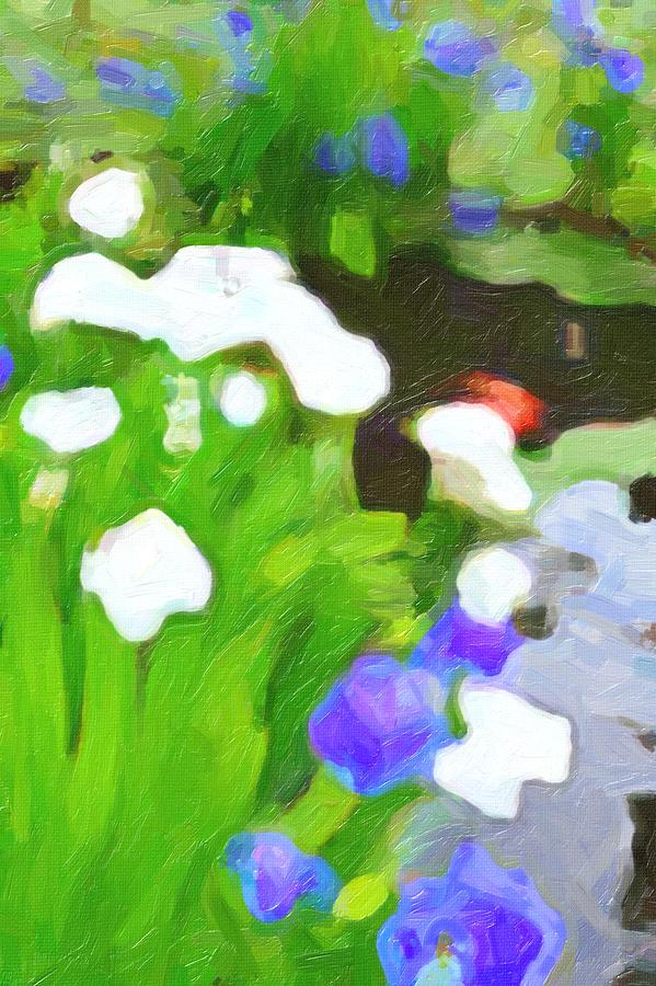 Koy pond digital art by joe giordano for The koy pond