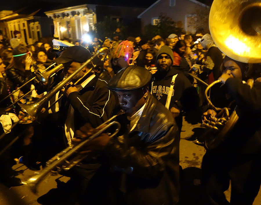 French Quarter Photograph - Krewe Du Vieux Parade In New Orleans by Louis Maistros