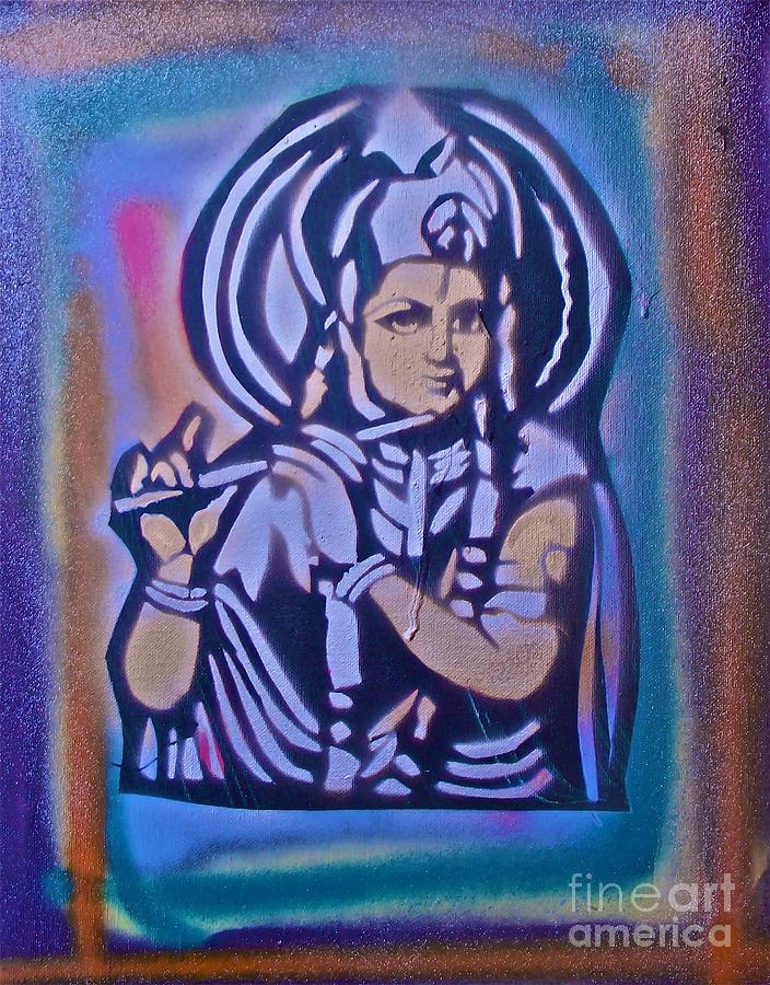 Graffiti Painting - Krishna 2 by Tony B Conscious