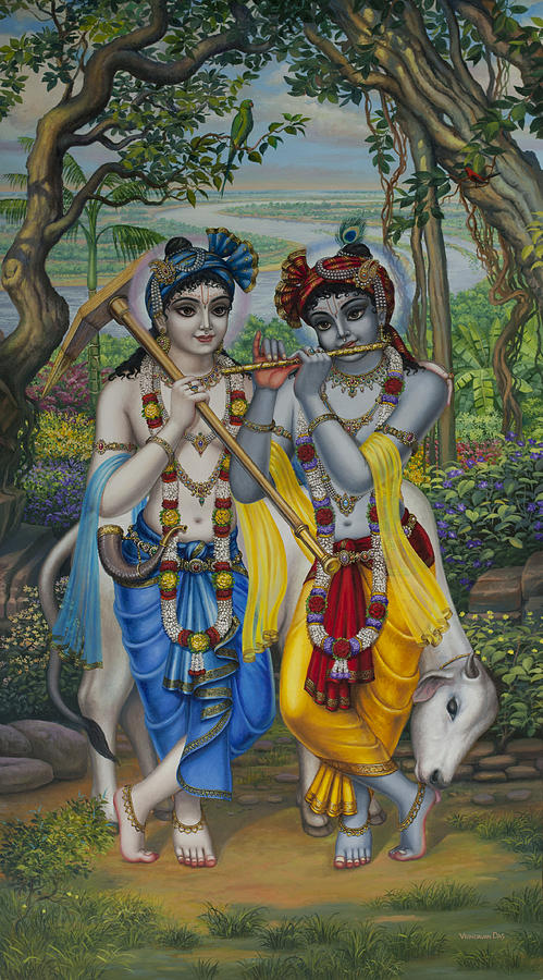 Krishna And Balaram Painting