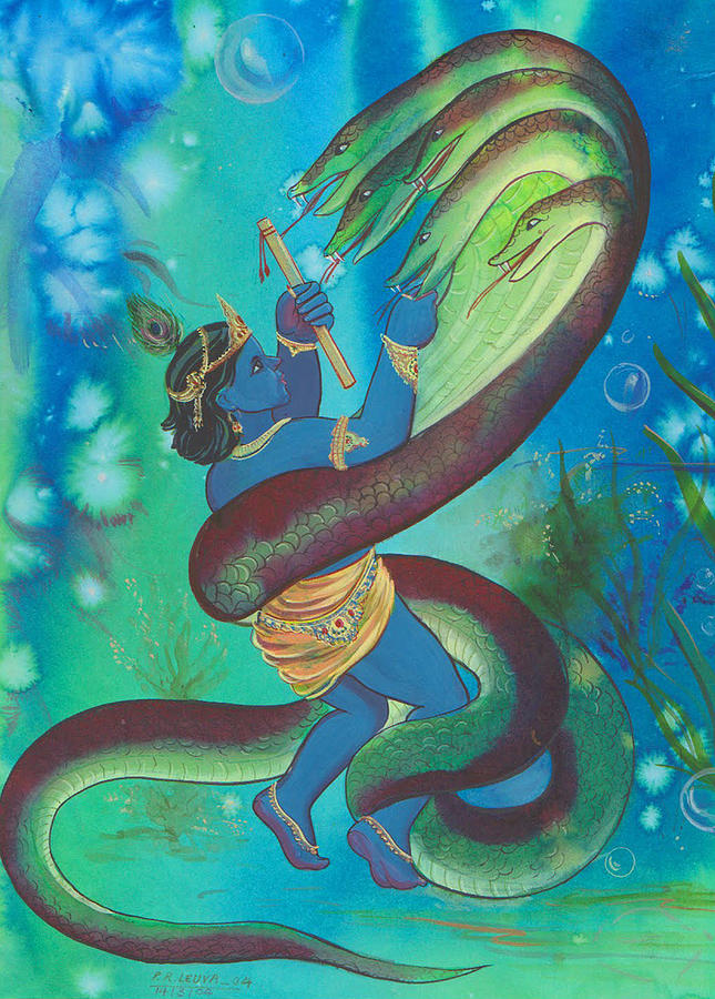 Krishna Fghit Kalinath Mixed Media