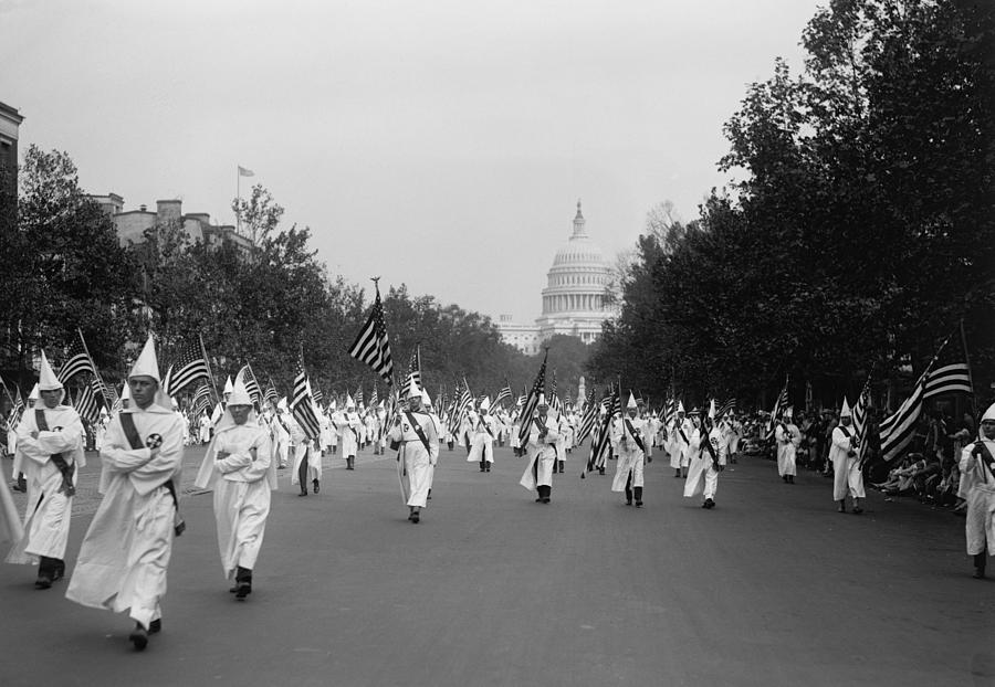 Ku Klux Klan Parade In Washington D.c Photograph