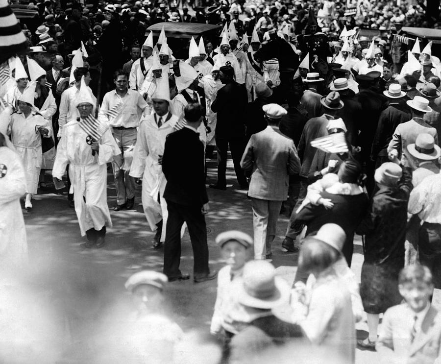 Ku Klux Klan Parades In Queens Borough Photograph