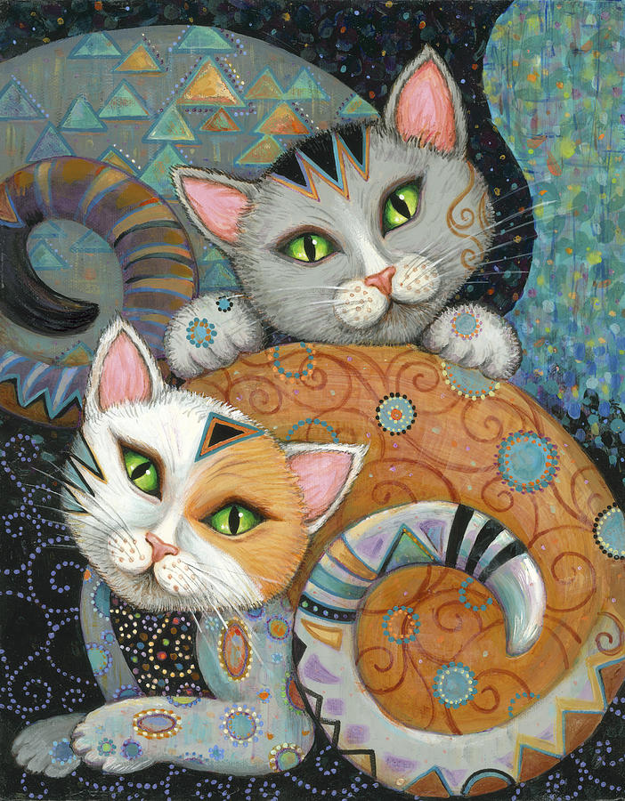 Kuddlekats painting by marjorie sarnat for Creative paintings pictures