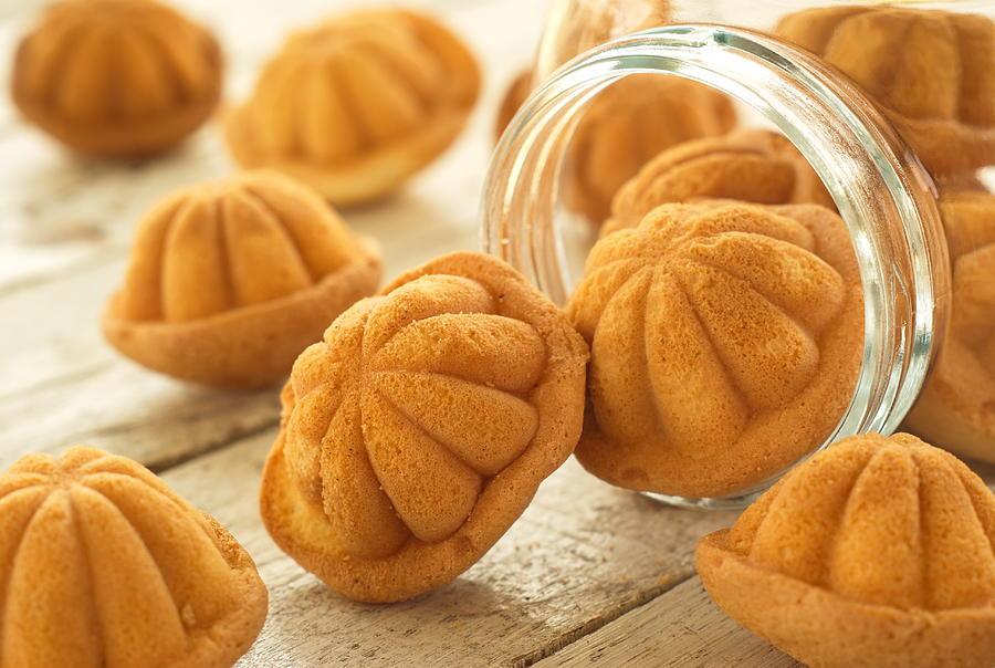 Kuih Bahulu - Traditional Malaysian Sponge Cake Photograph