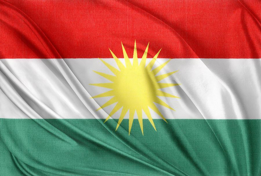 Kurdistan Flag Photograph
