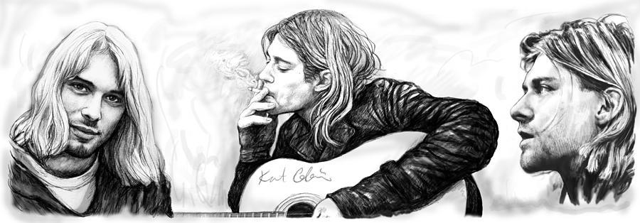 Nirvana Poster Black And White