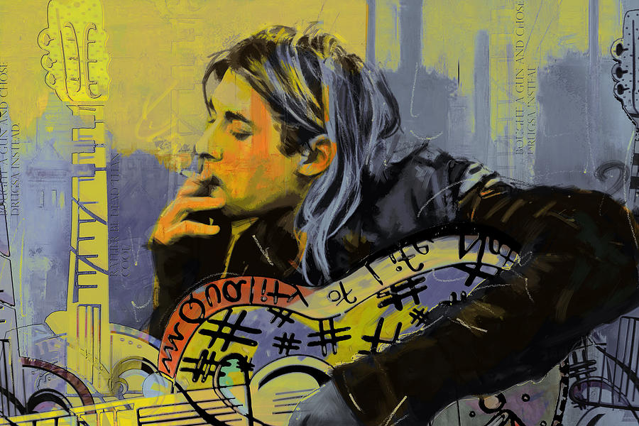 Nirvana Painting - Kurt Cobain by Corporate Art Task Force