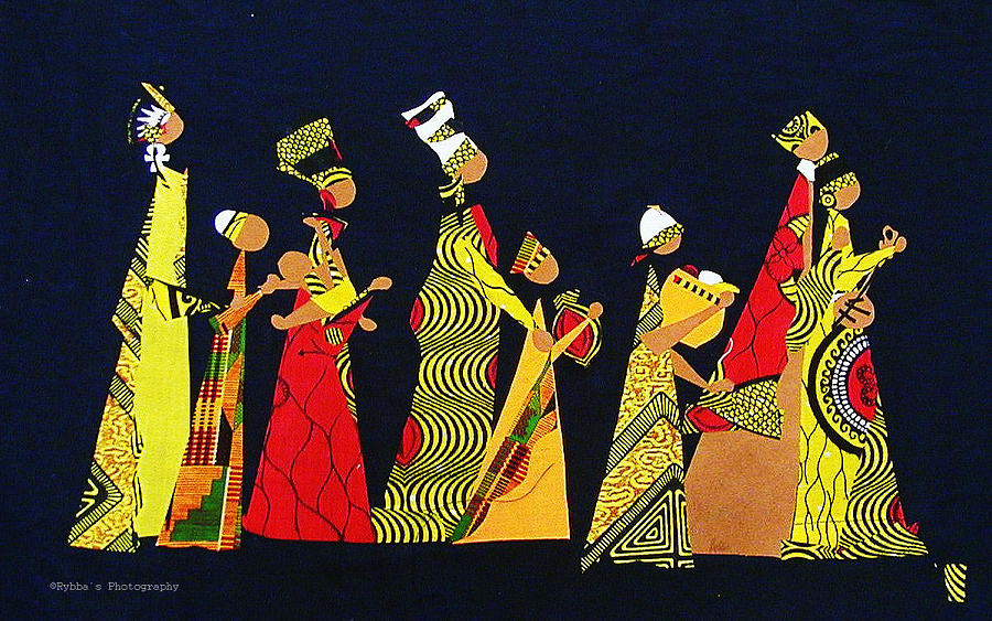 Kwaanza Celebration Tapestry - Textile  - Kwaanza Celebration Fine Art Print
