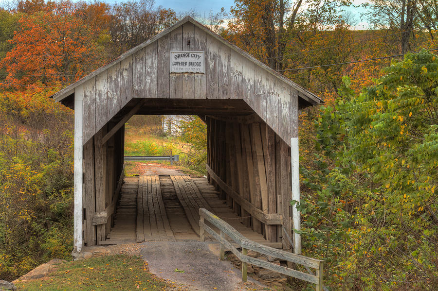 Ky Hillsboro Or Grange City Covered Bridge Photograph