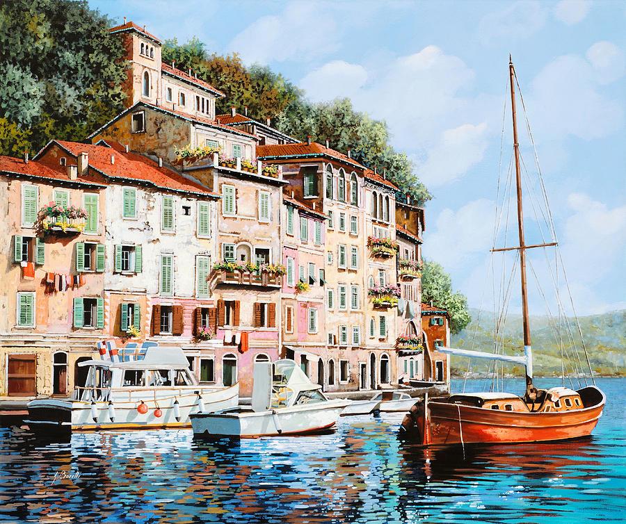 La Barca Rossa Alla Calata Painting