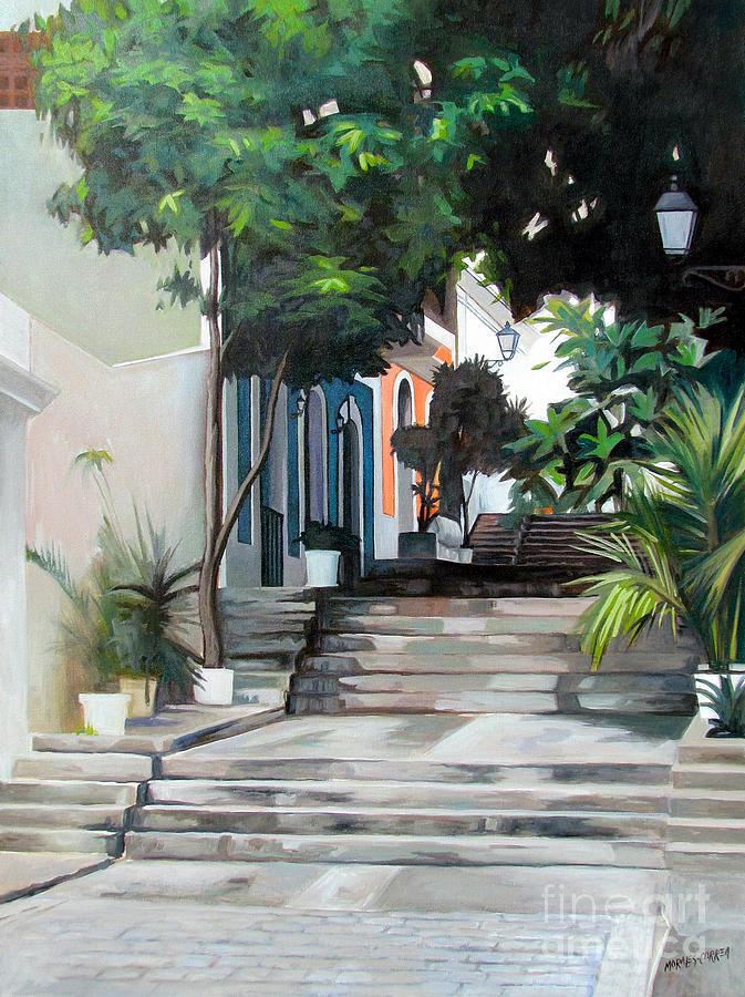 La Calle Del Hospital Painting