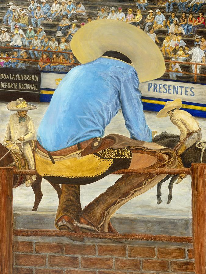 Mexican Painting - La Charreria by Pat Haley