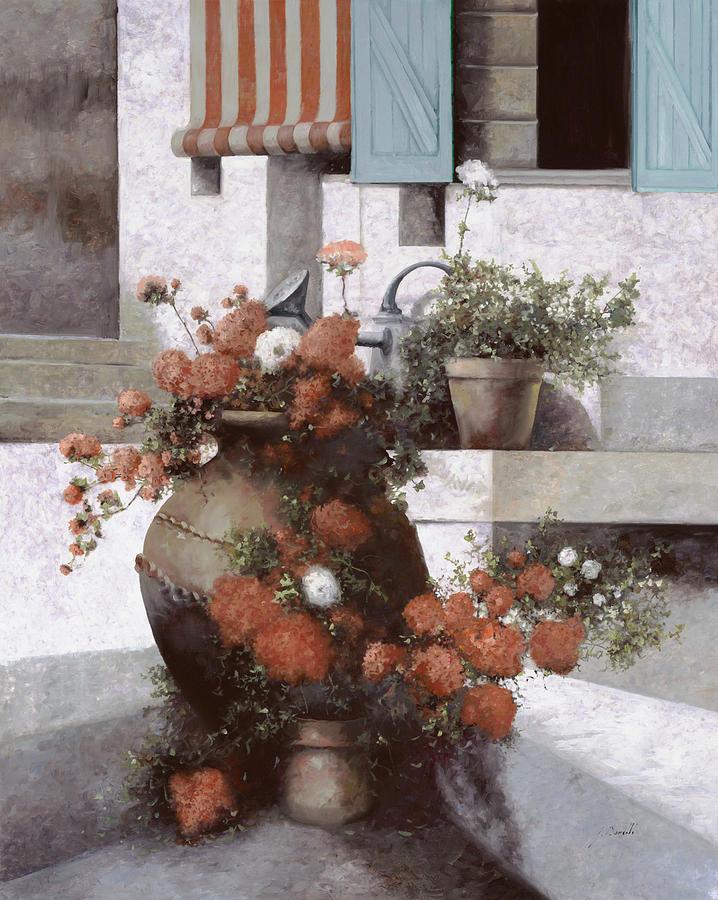 La Giara E I Fiori Rossi Painting