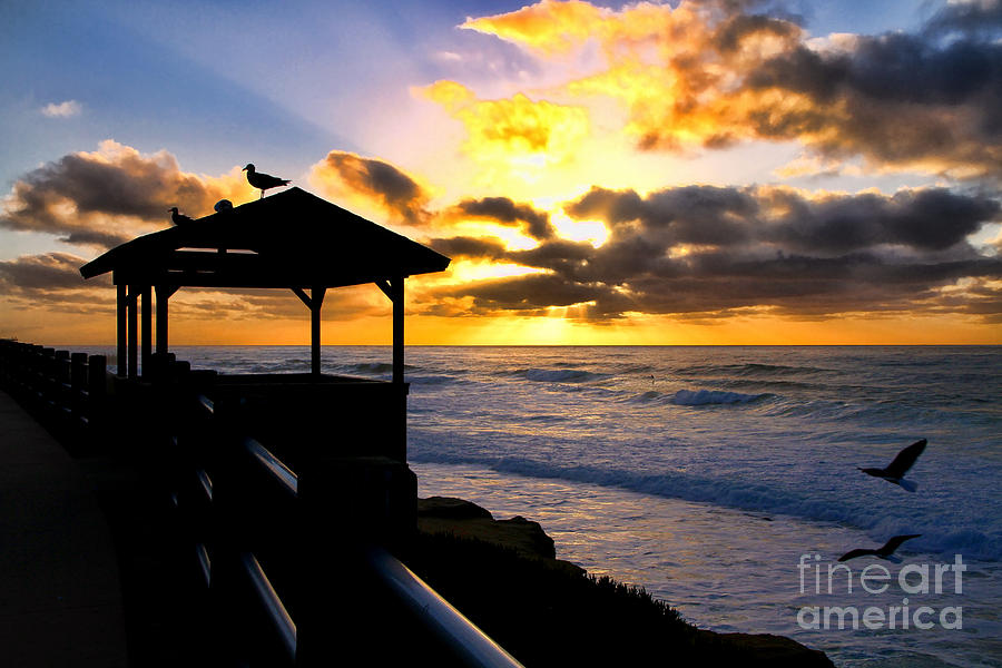 Sunset Photograph - La Jolla At Sunset By Diana Sainz by Diana Sainz