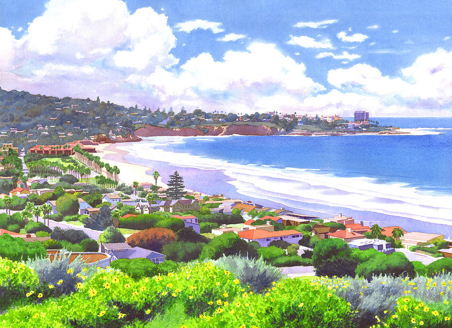 La Jolla California Painting  - La Jolla California Fine Art Print