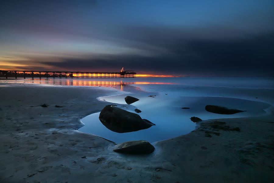 Sun Photograph - La Jolla Sunset 7 by Larry Marshall