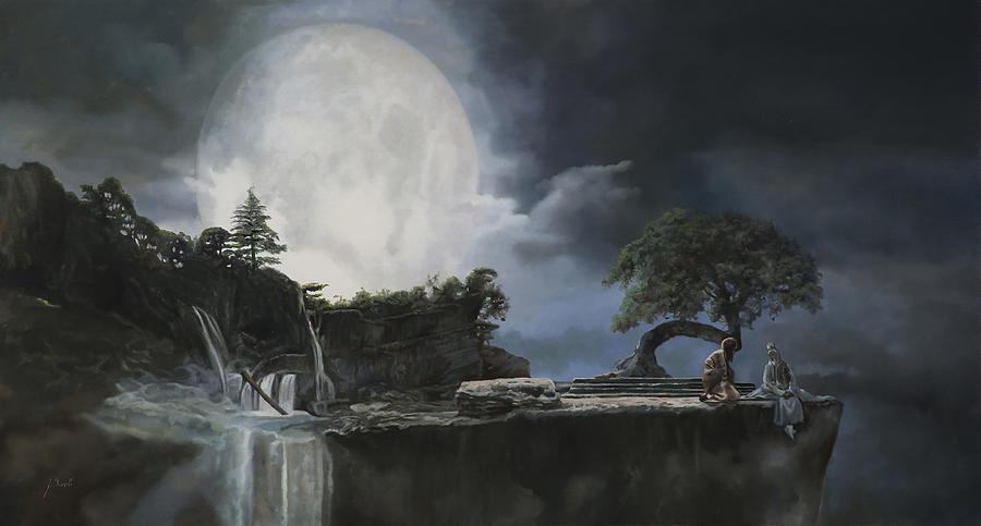 Moon Painting - La Luna Bianca by Guido Borelli