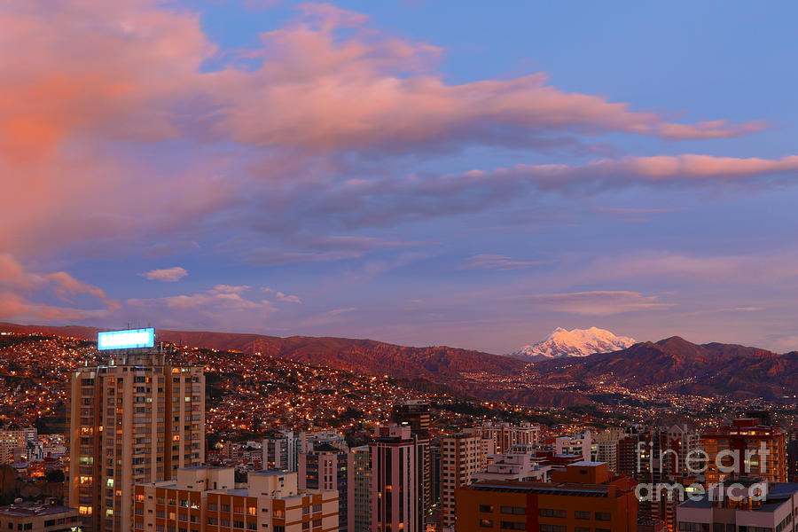 La Paz Photograph - La Paz Twilight by James Brunker
