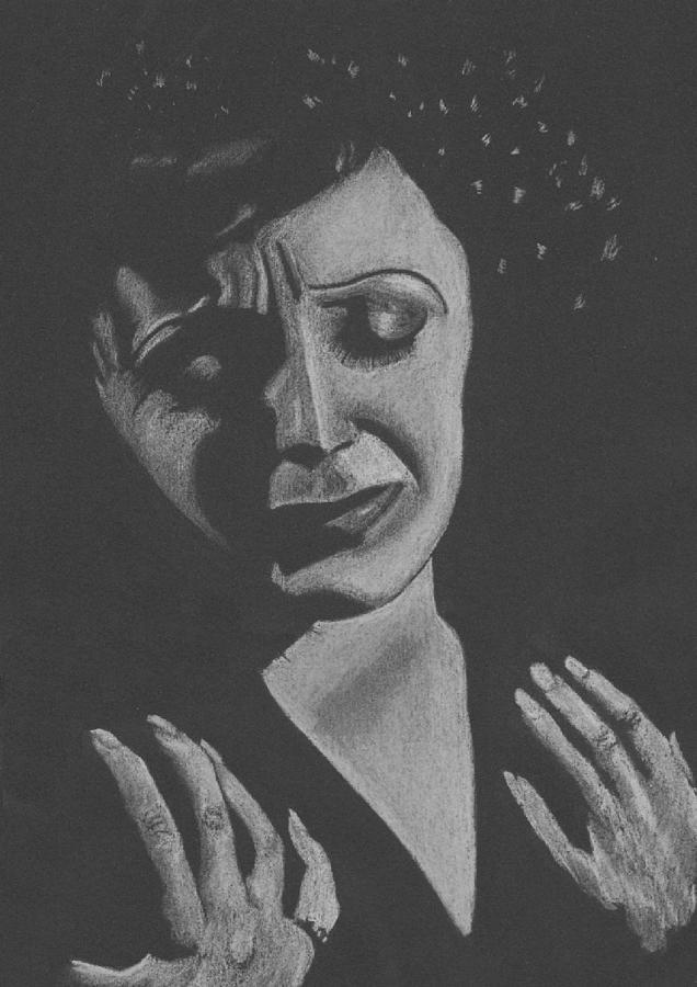 Edith Piaf Pastel - La Piaf by Inga Klein