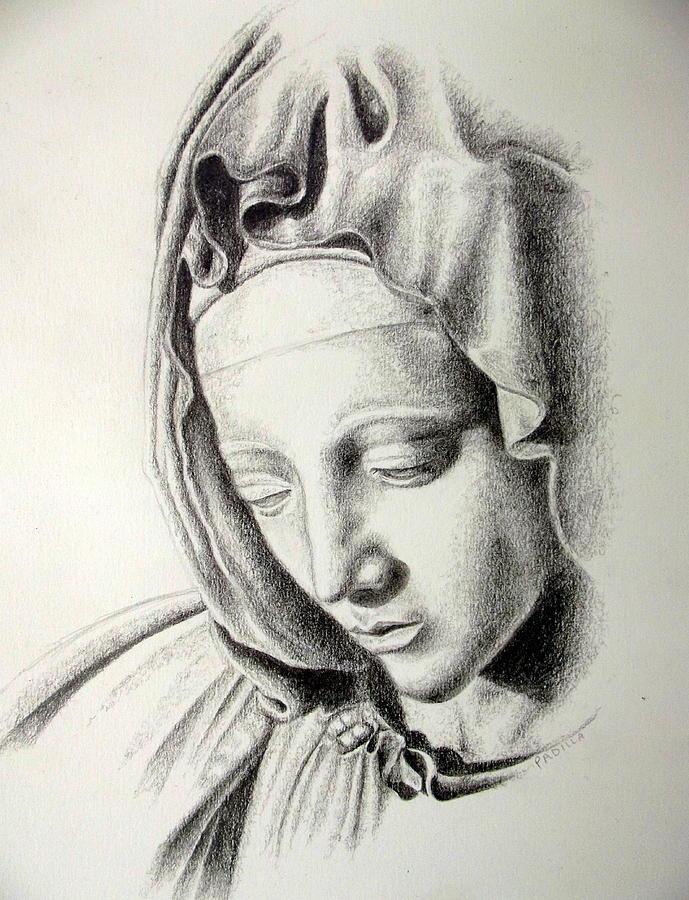 La Pieta Madonna Drawing